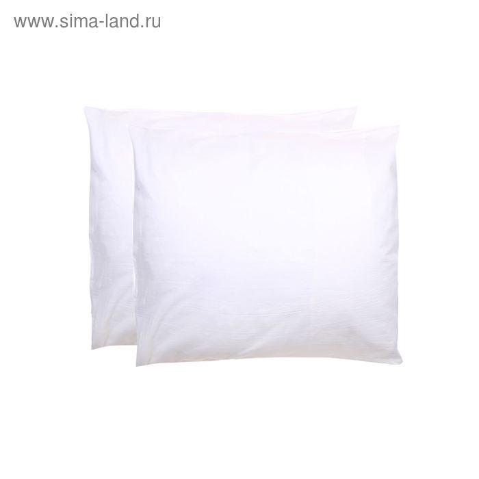 Наволочка КАРО-2 шт., размер 50х70 см, цвет белый, бязь 142 г/м2
