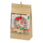 Пакет подарочный без ручек с декором «Ретро», 16 × 28 см