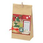 Пакет подарочный без ручек с декором Christmas diary, 16 × 28 см