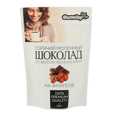 "Горячий шоколад молочный ""Фитодар"" со вкусом лесного ореха на фруктозе, 170 г"