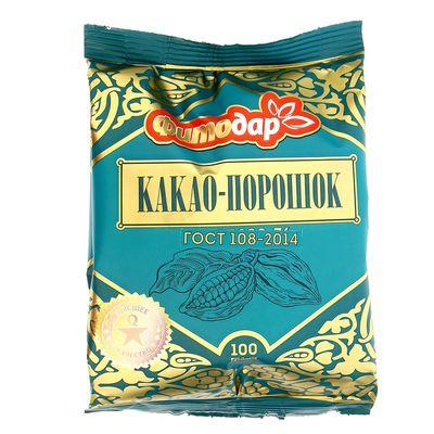 """Какао-порошок  """"Фитодар"""" ГОСТ, 100 г"""