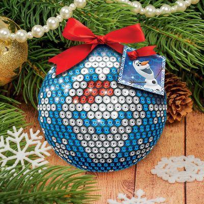 """Новогодний ёлочный шар """"Олов"""" Холодное сердце с пайетками"""
