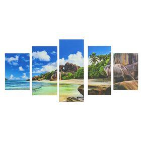 "Картина модульная на подрамнике ""Песчаный берег""  2-20х30; 2-20х40; 1-20х50, 50*110 см"