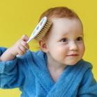 Расчёска детская + массажная щётка для волос в наборе «Малыши и малышки», от 0 мес.