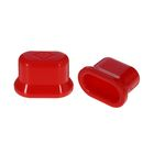 Плампер для увеличения губ, овальный, цвет красный