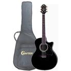 Гитара электроакустическая CRAFTER GAE-8/BK с предусилителем чёрная + чехол