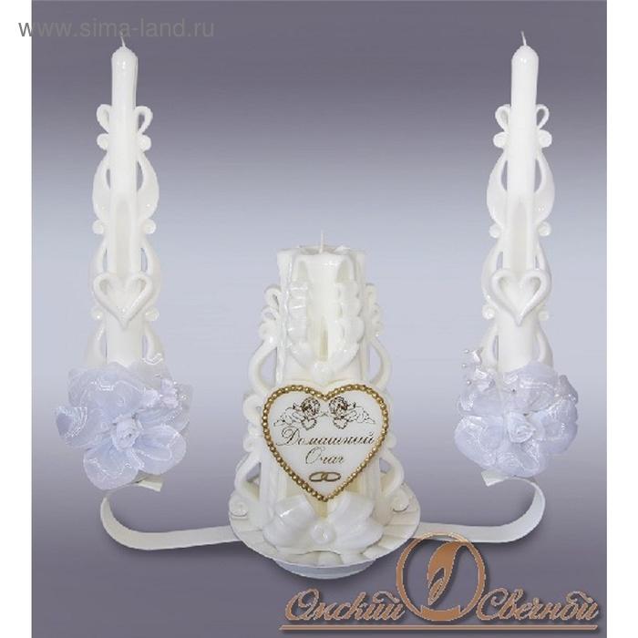Набор свечей домашний очаг белый