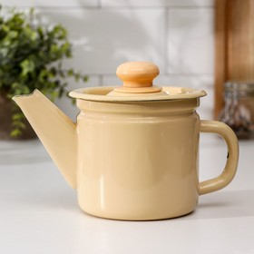 1 L teapot, fixed handle, fawn color.