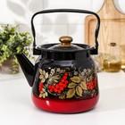 """Чайник 3,5 л """"Рябинка"""", цвет красно-черный"""