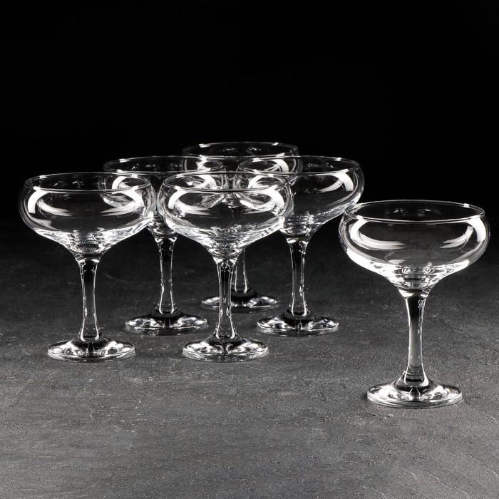 Набор фужеров для шампанского 260 мл 5 шт БИСТРО   (УЦЕНКА)