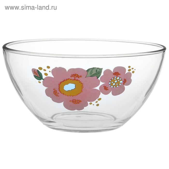 """Салатник 750 мл """"Гладкий. Яркие цветы"""", d=16 см, рисунок МИКС"""