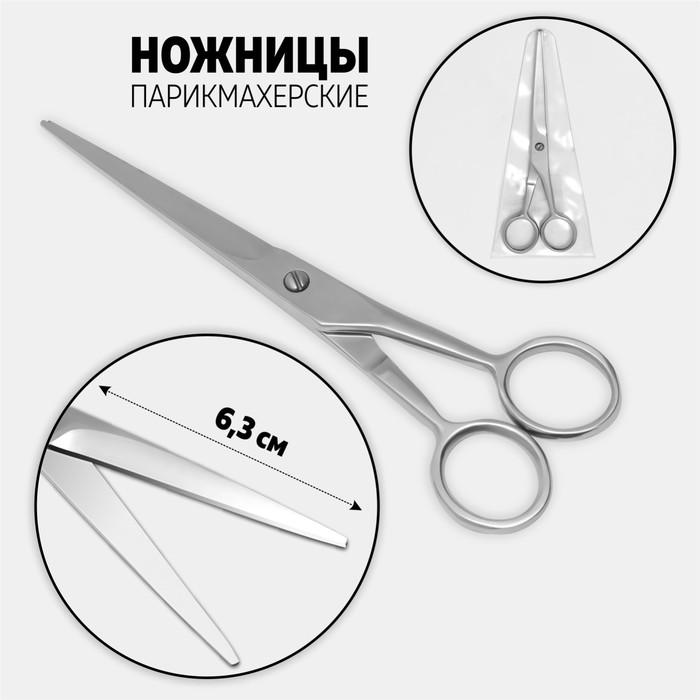Ножницы парикмахерские, цвет серебряный