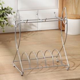 {{photo.Alt    photo.Description    'Сушилка для чайного сервиза Доляна, 17×11,5×19 см, цвет хром'}}