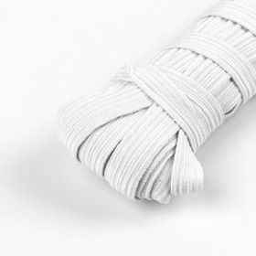 Elastic band elastic 10 mm 10±1 m, white color