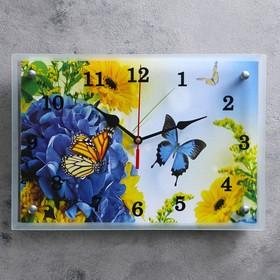 """Часы настенные, серия: Цветы, """"Бабочки"""", 25х35  см, микс"""