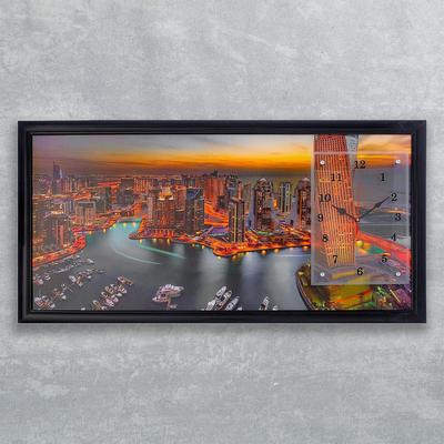 """Часы-картина настенные, серия: Город, """"Дубай"""", 50х100  см, микс"""