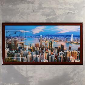 """Часы-картина настенные, серия: Город, """"Город и архитектура"""", 50х100  см, микс"""