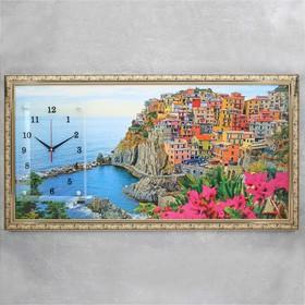 """Часы-картина настенные, серия: Природа, """"Италия"""", 50х100  см, микс"""