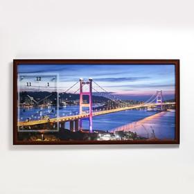 """Часы-картина настенные, серия: Город, """"Сан-Франциско"""", 50х100  см, микс"""
