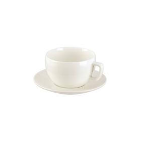 Чашка для завтрака Tescoma Crema, цвет белый, с блюдцем