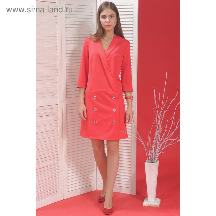 Платье, размер 48, рост 164 см, цвет розовый (арт. 5000а)