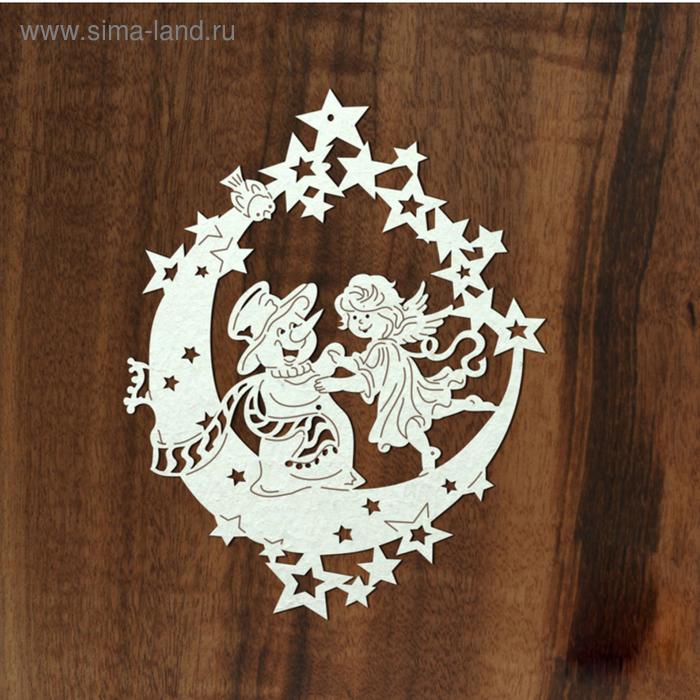 "Чипборд ""Снеговик и ангел"" 8х10 см"