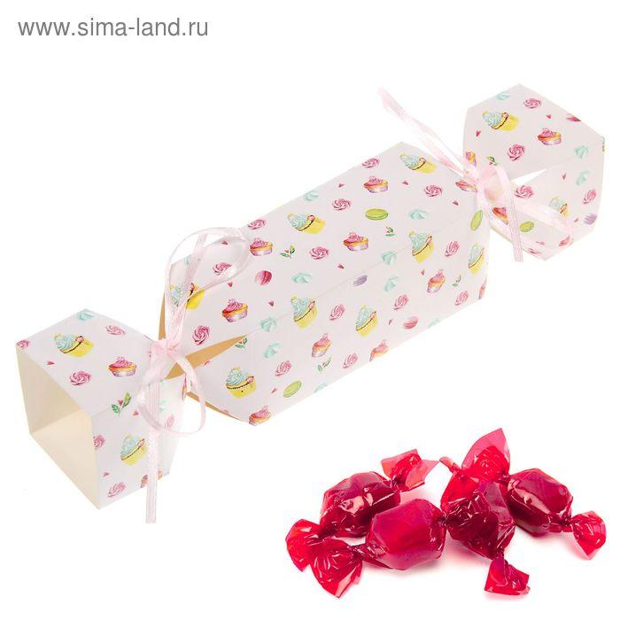 """Складная коробка-конфета """"Сладкие мгновенья"""", 12 х 5 см"""