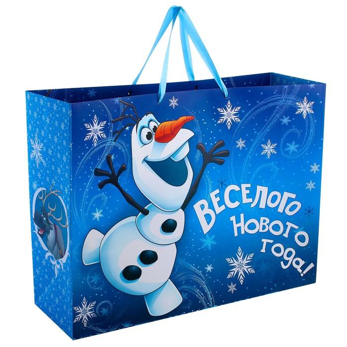 Пакет подарочный ламинированный XL «С Новым Годом!», Холодное сердце, 61 х 46 х 20 см