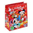 Пакет подарочный ламинированный «С Новым Годом!», Микки Маус и его друзья, 23 х 27 х 8 см