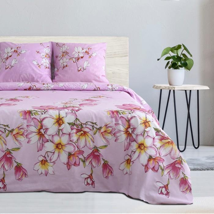 Постельное бельё Этель 1.5 сп «Розовая магнолия» 143х215, 150х214, 70х70- 2 шт