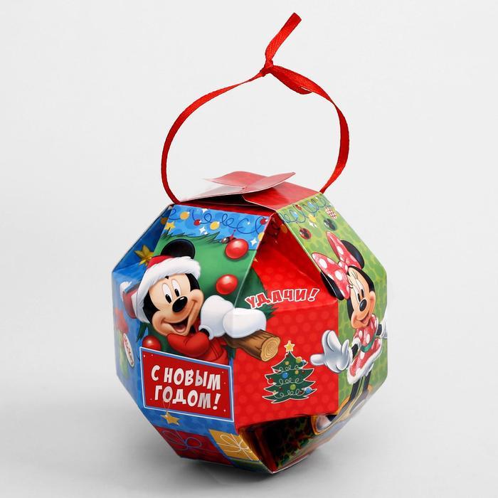 """Коробка подарочная """"Счастья!"""" Микки Маус и его друзья, 10 х10 x 10 см"""