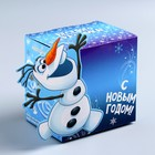 """Коробка подарочная """"Веселого Праздника""""Холодное сердце, 11 х11 х8 см"""