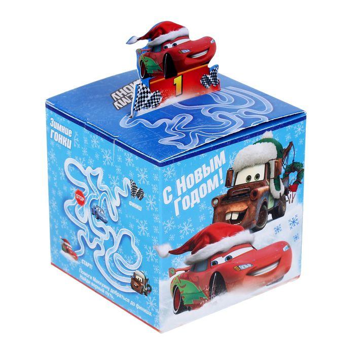 """Коробка подарочная """"Настоящему чемпиону""""Тачки , 8 х 8 х 8 см"""