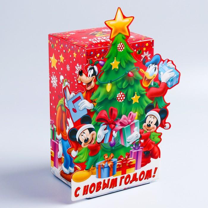 """Коробка подарочная """"Подарки"""" Микки Маус и друзья, 10 х 20 х10 см"""