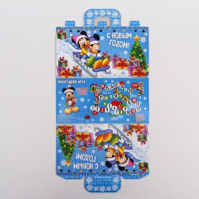 "Коробка подарочная ""Новогодняя игра""Микки Маус и друзья , 24,5 х13,5 х 12 см"