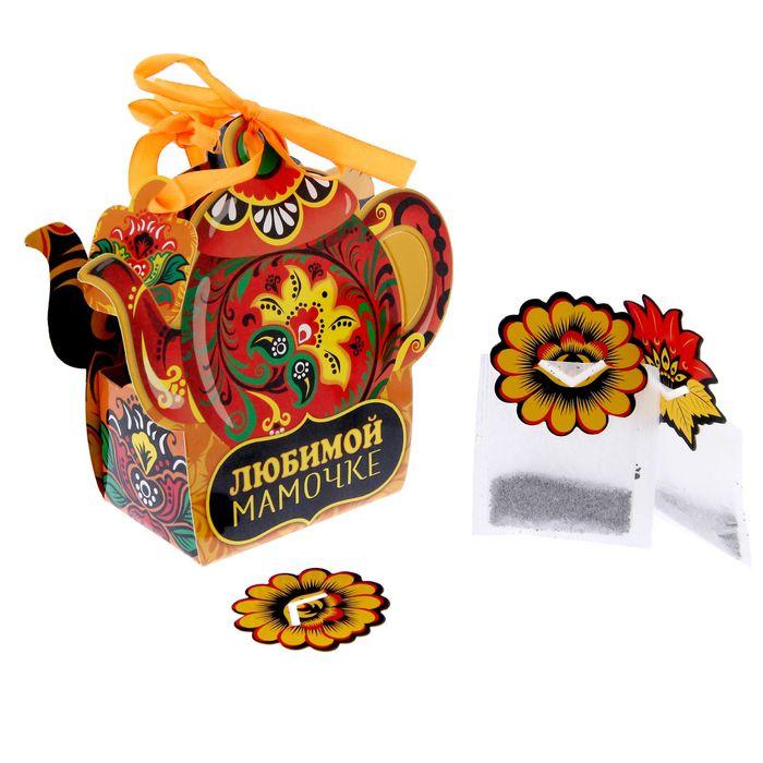 """Домик для чайных пакетиков без европодвеса """"Любимой мамочке"""""""
