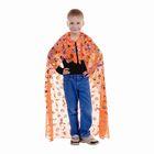 """Карнавальный плащ """"Ведьмы, тыквы, мыши """", цвет оранжевый, длина 110 см"""
