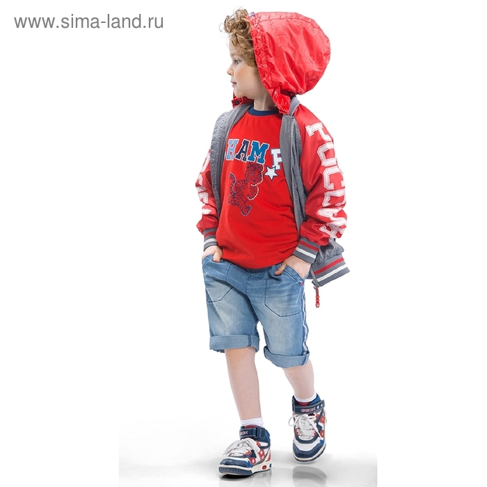 Ветровка для мальчика, 4 года, цвет серый BZIN364