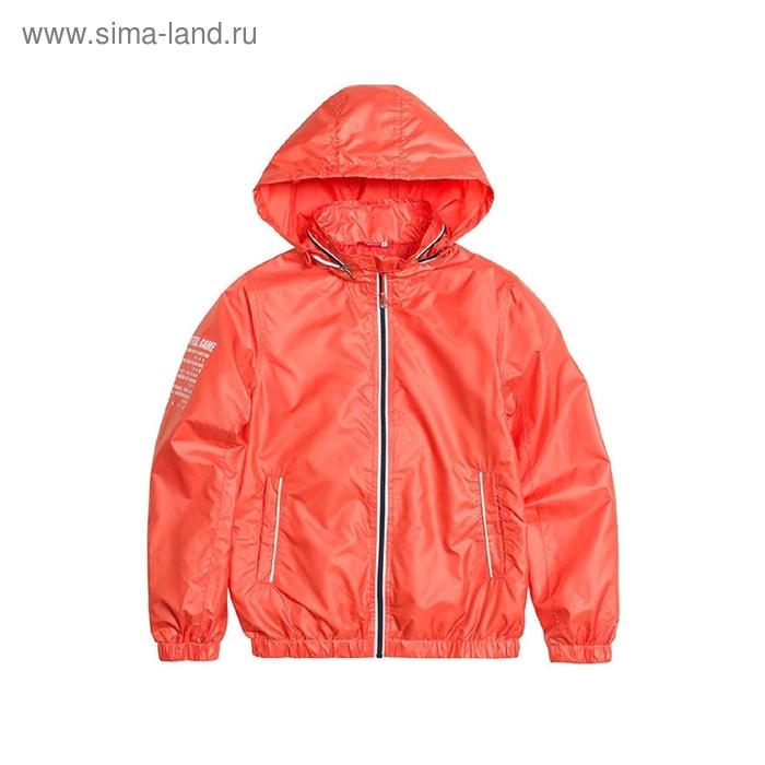 Ветровка для мальчика, 11 лет, цвет красный BZIN464