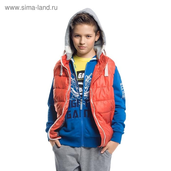 Жилет для мальчика, 10 лет. цвет красный BZVM464