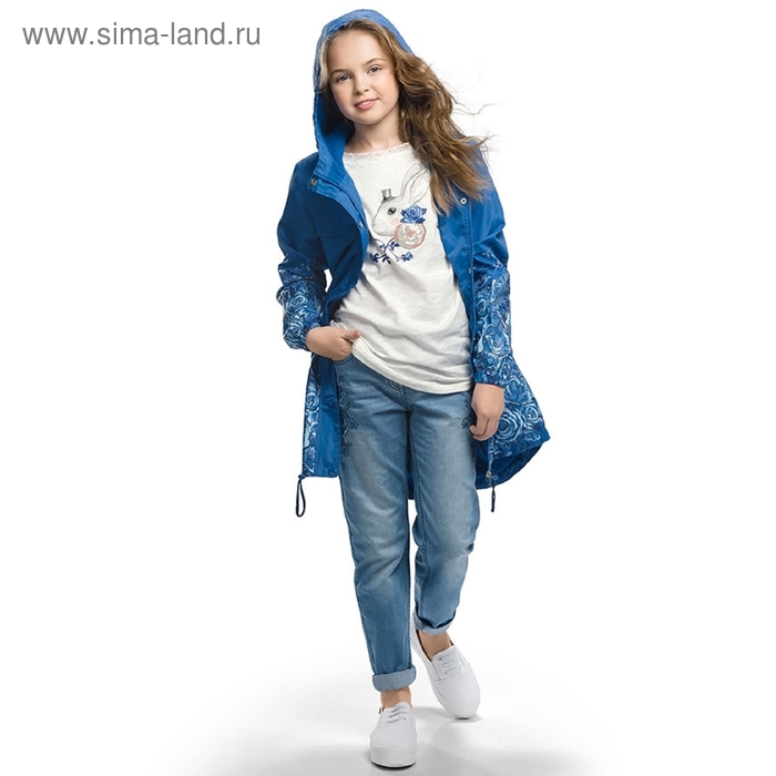 Ветровка для девочки, 7 лет, цвет синий GZIM489