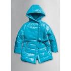 Пальто для девочки, возраст 3 года, цвет лазурный