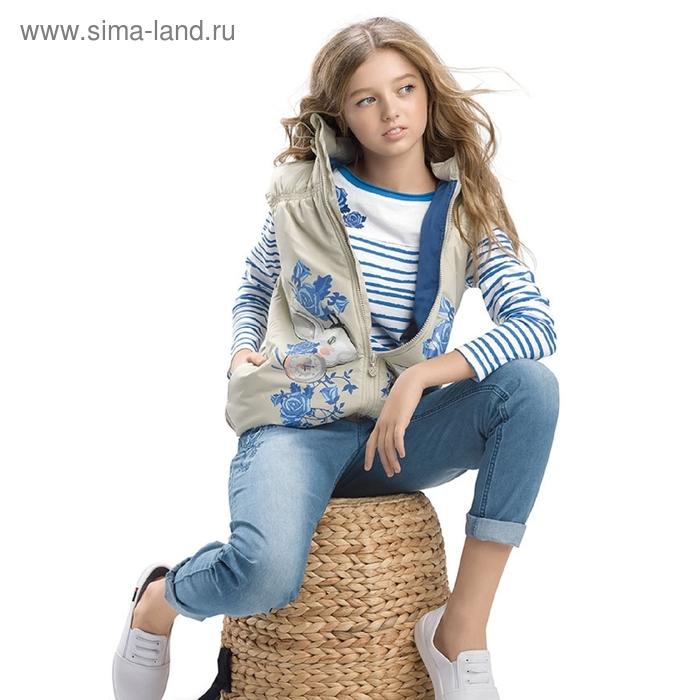Жилет для девочки, 11 лет, цвет песочный GZVN489