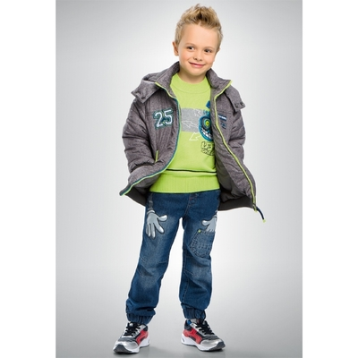 Куртка для мальчика, возраст 2 года. цвет серый
