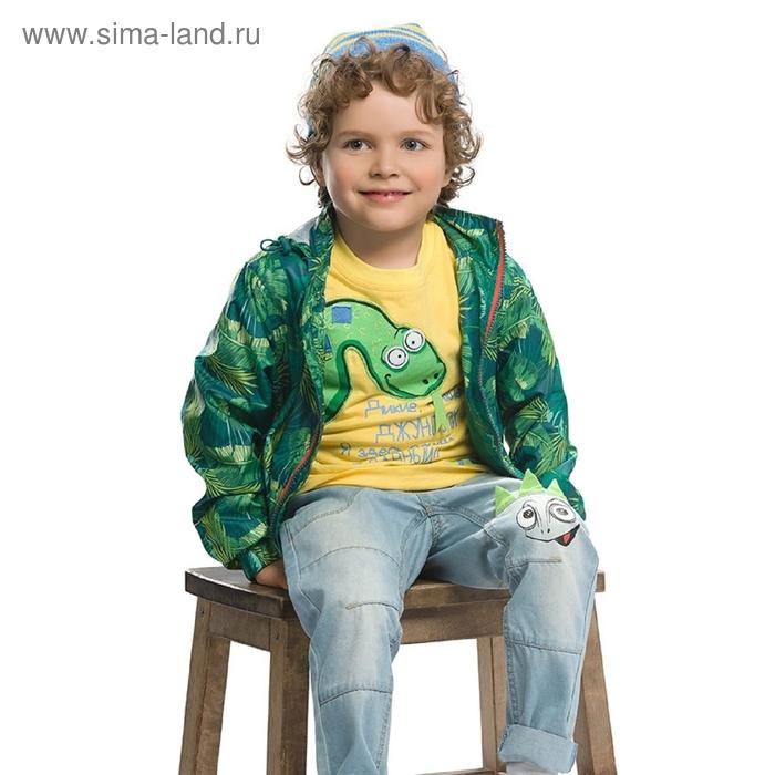 Ветровка для мальчика, 5 лет, принт джунгли BZIN366
