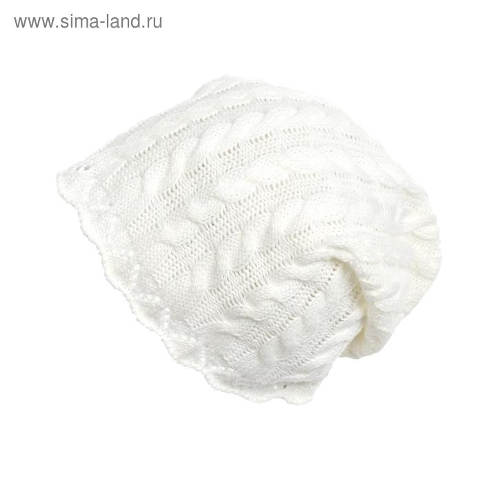 Шапка для девочки, размер 48-50, цвет белый GQ385/1