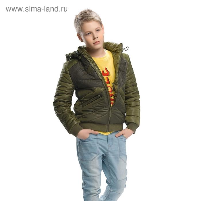 Куртка для мальчика, 7 лет, цвет болотно-зелёный BZWC465
