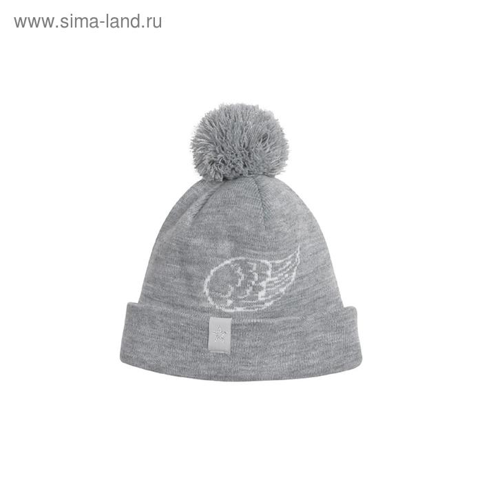 Шапка для девочки, размер 53-54, цвет серый меланж GQ484/1
