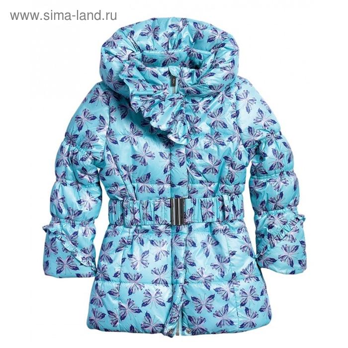 Пальто для девочки, 6 лет, цвет мятный GZFL371
