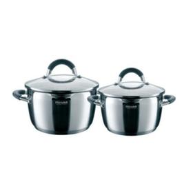 Набор посуды Flamme Rondell 4 предмета: две кастрюли d=20 см и d=24 см, две крышки